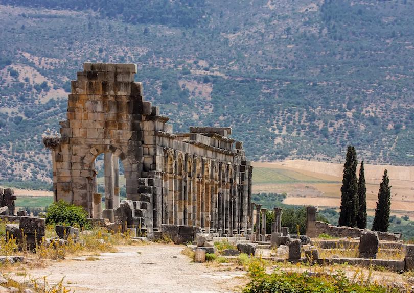 ruinas romanas de Volubilis en Marruecos