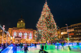 Nottingham, Inglaterra mercado navideño